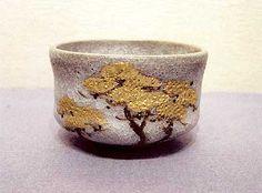 古稀彩瑞松茶碗12.6×7.8