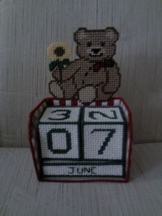 Teddy Bear Perpetual Calendar by CunninghamCrafts on Etsy, $25.00