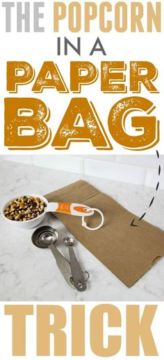 Fun trick for healthier DIY microwave popcorn using a plain paper bag!