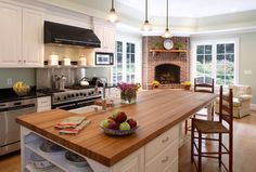 Fireplace In Kitchen Design Ideas, Pictures, Remodel and Decor