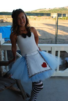 Adult or Teen Alice in Wonderland Tutu Custom Halloween Costumes For Teens, Halloween 2013, Cute Costumes, Disney Costumes, Disney Halloween, Halloween Party, Costume Ideas, Halloween Ideas, Fancy Dress