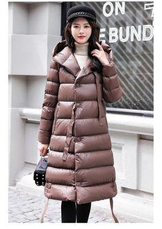 46e1c45eca1ab Ultra Light 90% White Duck Down Parka Women Winter Slim Long Hooded Jacket  Coats Female