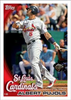2010 Topps Baseball Card of Albert Pujols