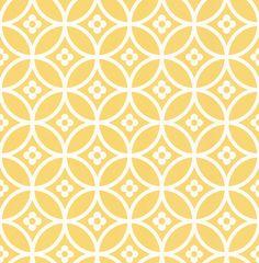 Daisy Chain Small  Yellow Mellow wallpaper by Layla Faye