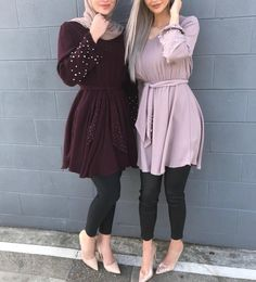 Pinterest: just4girls Modest Fashion Hijab, Casual Hijab Outfit, Hijab Chic, Muslim Fashion, Hijab Dress, Mode Outfits, Fashion Outfits, Hijab Fashionista, Sleeves Designs For Dresses