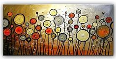 Santin Art-Large Size Jubilation Hand Made Abstract Oil Painting ...