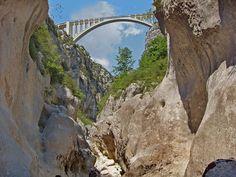 Gorges de Verdun, Pont Artuby D71, Var, Provence, France.