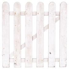 A simple wooden gate allows you access to your yard from your patio.