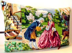 UNIQUE French Vintage Needlepoint Tapestry & by Retrocollects, £45.00