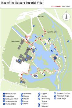 Rough Map of Katsura Imperial Villa