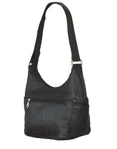 Paul & Taylor Genuine Leather Classic Hobo Shoulder Bag 1649 (Black) - http://leather-handbags-shop.com/paul-taylor-genuine-leather-classic-hobo-shoulder-bag-1649-black/