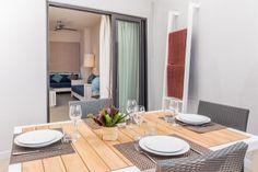 Apartment 1-3 Personen ca78qm Selbstversorgung Schlafzimmer mit einem Doppelbett Schlafsofa (eine Person) Küche komplett ausgestattet Bad mit Dusche und WC TV und Telefon Safe Klimaanlage Schreibtisch Internet- W-lan gratis Bügeleisen  ab 98€ pro Apartment und Tag