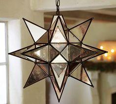 Oversized Morovian Star Pendant #potterybarn... I think I will fill my home with stars, to illumine my heart