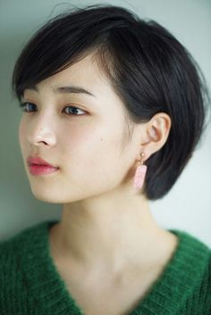 Most Beautiful Faces, Beautiful Asian Women, Short Hair Cuts, Short Hair Styles, Healthy Women, Japanese Girl, Beautiful Actresses, Cute Hairstyles, Asian Beauty