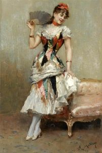 Aline With A Fan - Raimundo de Madrazo y Garreta - The Athenaeum