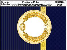 Bisnaga Brigadeiro Coroa Príncipe Azul Marinho