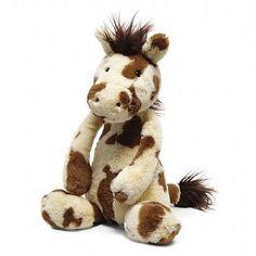 Bashful pinto pony
