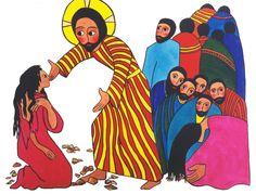 Jesus Shows Compassion by artist Gisele Bauche