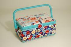 Sewing Craft Sewing Workbox - Rectangular - Hand Made