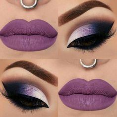 maquillaje lila morado