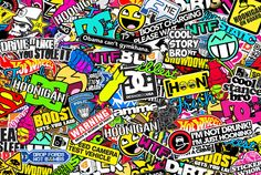 Sticker Art | HOONIGAN] Sticker Bombing by bora888