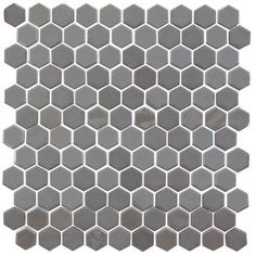 "shower floor Onix 1"" x 1"" Glass Tile in Pewter"