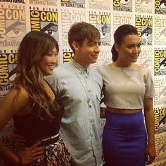 Kevin, Jenna + Naya at the press circuit!