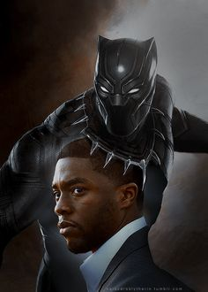 """Chadwick Boseman as T'Challa/Black Panther in the upcoming """"Captain America: Civil War"""" (2016) and """"Black Panther"""" (2017)   tumblr_ne6ae94DwW1r9do03o1_500.png (500×700)"""