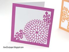 i love 2 cut paper: Pretty Flowers - available for electronic cutting machines.
