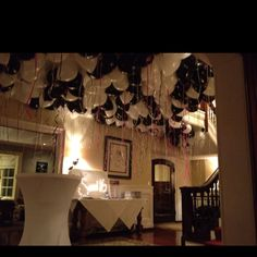 Sweet 16 decor,.. black and white balloons