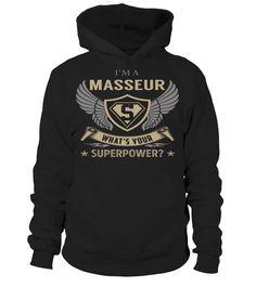 Masseur Superpower Job Title T-Shirt #Masseur
