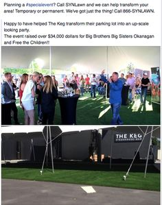Whether your having a wedding, a party or any kind of special event, adding SYNLawn to your area is a great option!