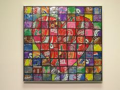 Pop art heart made from cut soda cans - would be a great art auction piece - but how do you mount it? Collaborative Art Projects, Classroom Art Projects, Art Classroom, Group Projects, Pop Can Art, Pop Art, Auction Projects, Art Auction, Auction Ideas