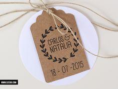 Invitación Kraft Romántica perfecta para una boda vintage o de estilo rústico. Formato tarjetón DIN A5. Opción de incluir plano. Pedido mínimo 60 unidades.