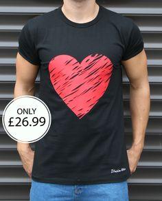 Red Heart T Shirt available @ www.illusionattire.com  ❤❤  #fashion #fashionista #blckfashion #illusionattire