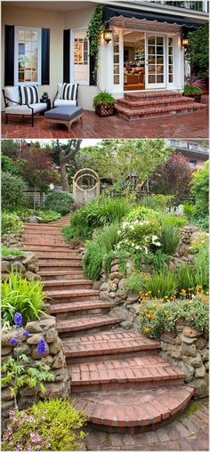 Go for Brick Stairs for a Rustic Feel