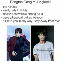 Jungkook chasing people with a baseball bat sounds funny Logic Memes, Memes Bts Español, Kookie Bts, Bts Bangtan Boy, K Pop, Mafia, Bts Scenarios, Jeongguk Jeon, Bts Facts