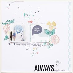 magda mizera: always ready - layout (Gossamer Blue September kits)