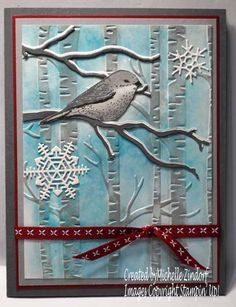 Christmas Best Bird hand stamped Stampin' Up! Christmas Card created by Michelle Zindorf - Best Birds Stamp Set Xmas Cards, Holiday Cards, Christmas Bird, Theme Noel, Bird Cards, Winter Cards, Animal Cards, Cool Cards, Flower Cards