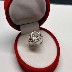 Ring 585 Weißgold in memoriam John F Kennedy GR241