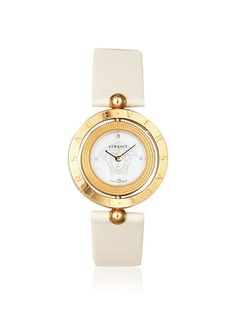 Versace Women's 79Q80SD497 S002 Eon 2 Rings Beige Watch,
