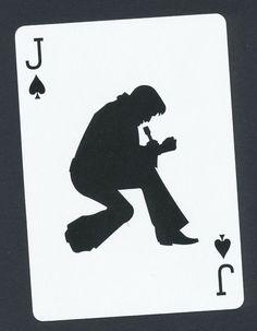 Elvis Presley silhouette playing card single swap jack of spades - 1 card