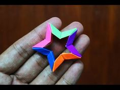 Modular Origami - How to make Modular 3D 5-point Star Origami - YouTube