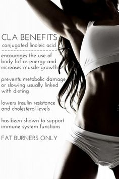 CLA (Conjugated Linoleic Acid) Benefits! CLA is an effective, natural, non…
