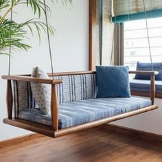 Villa or apartment, traditional or modern, minimalist or maximal, Mediterranean or mid-century: the point is size of the house and style doesn't matter. . . The one thing that is close to our hearts in Indian homes is the swing / oonjal / jhoola. You will see variations of it, but it will be there and if we couldn't make space for it, we'll drool over pictures of one endlessly. And, in Gujarati homes, it's a given they will make room for it no matter how or where. . . This simple jhoola is…