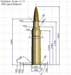 338 Lapua Mag diagram Mechanical Engineering Design, Mechanical Design, Cad 3d, Metal Lathe Projects, Drafting Drawing, Revolver, Ship Drawing, 3d Studio, 3d Drawings
