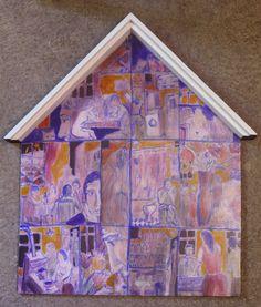 Casa.Culori acrilice pe lemn stratificat.