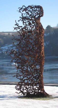 You Blew Me Away, sculpture by British artist Penny Hardy. this sculpture. Art Public, Sculpture Metal, Art Sculptures, Sculpture Garden, Abstract Sculpture, Art Plastique, Love Art, Installation Art, Art Installations