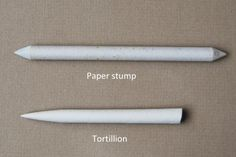 The difference between a tortillion and a blending stump can be seen above. They both have their advantages: tortillions are better at more ...