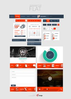 Flat ui wit long shadows freebies http://www.onextrapixel.com/2013/07/30/free-download-long-shadow-flat-ui-kit/